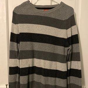 IZOD Men's Gray Stripped Sweater - Large Like New